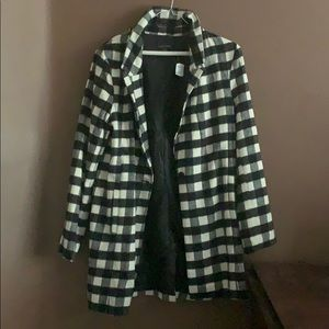 NWT Forever 21 checkered coat